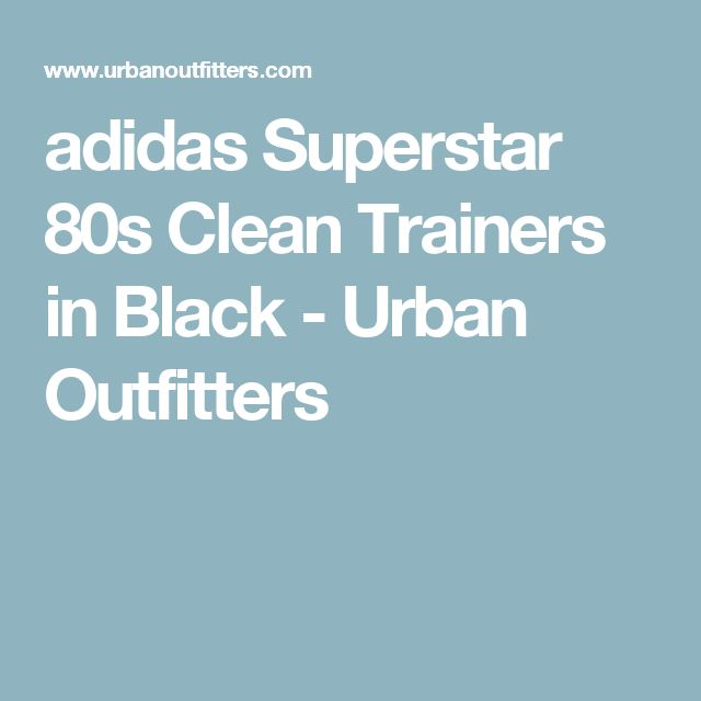 adidas Superstar 80s Clean Trainers in Black - Urban Outfitters