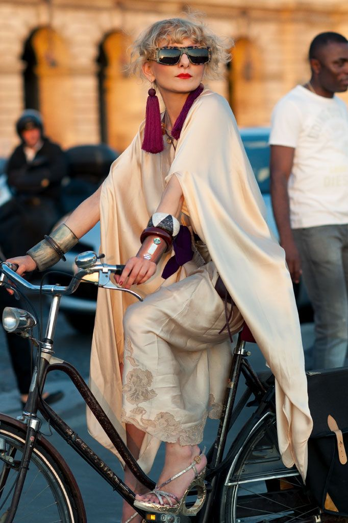 I could look at this photo of Catherine Baba on a bicycle all day long.
