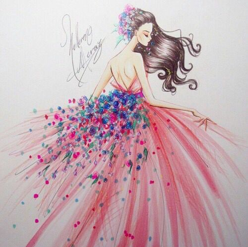 How to draw dresses easy - YouTube |Pretty Clothes Drawings