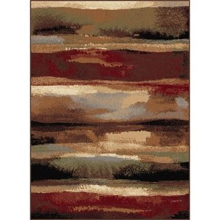 Alise Flora Red Area Rug (7'10 x 10'3)