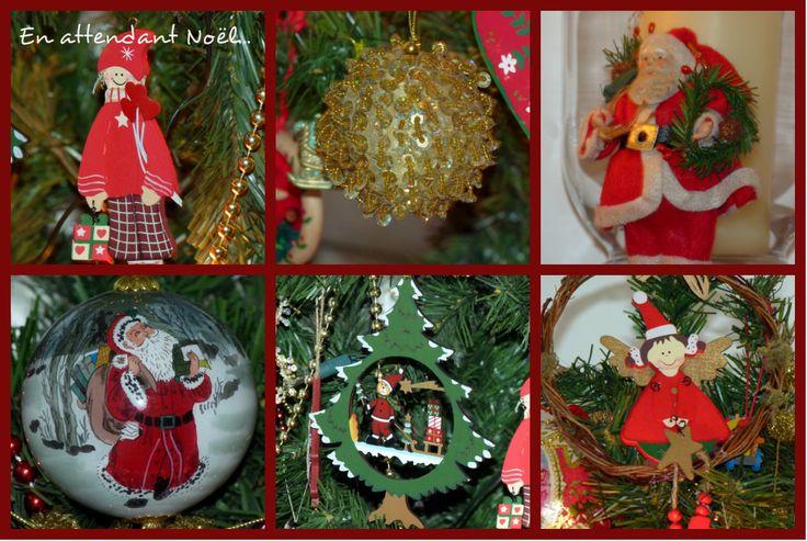 décorations de Noël en rouge et or