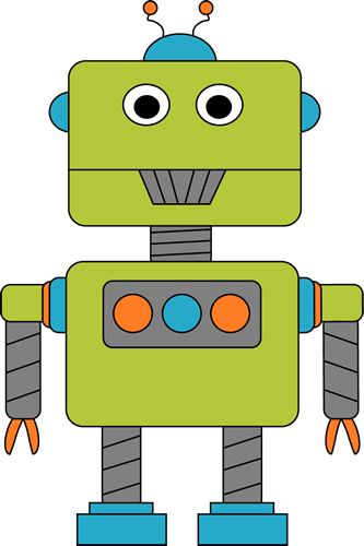 Robot for Letter R Clip Art - Robot for Letter R Image