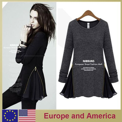 Designer european & america style women long sleeve party sweater autumn dress skirts for woman new fashion 2013 $22.00