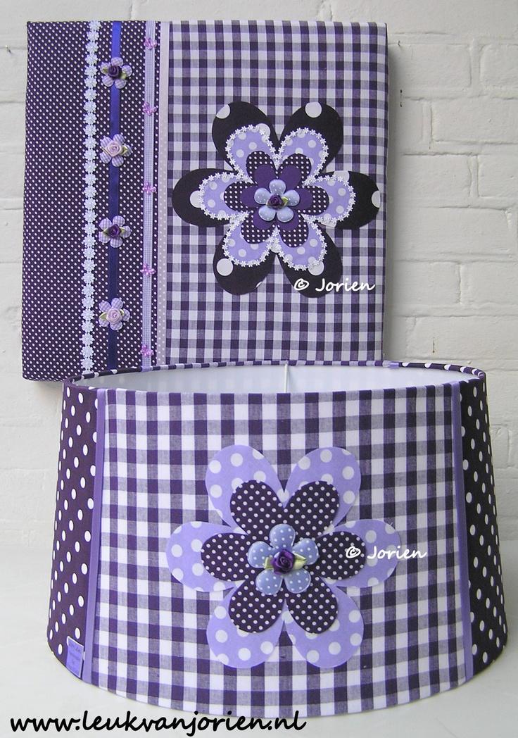 set paars bloem gemaakt voor klant