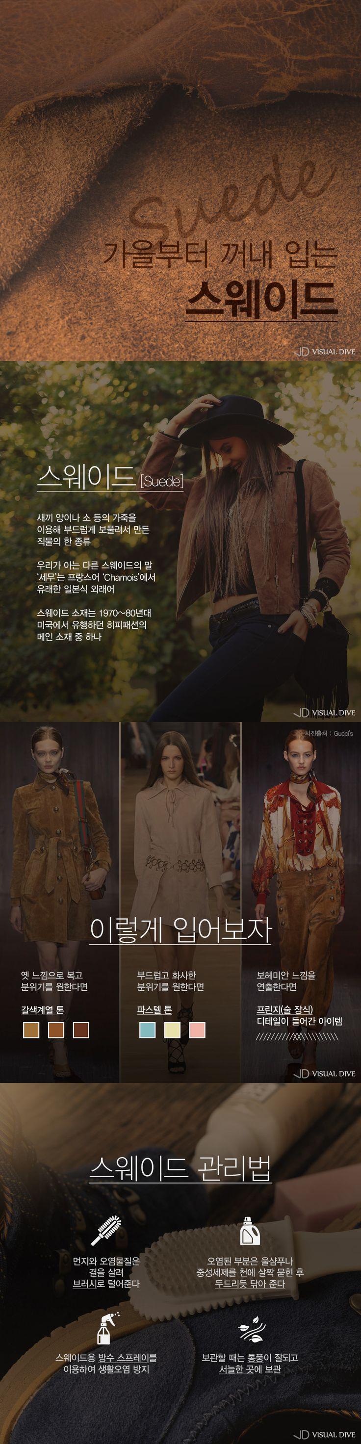 올 가을 핫 패션 키워드 '스웨이드'[인포그래픽] #Fashion / #Infographic ⓒ 비주얼다이브 무단 복사·전재·재배포 금지