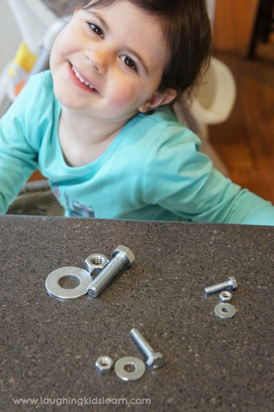 sharing out the nuts and bolts activity for kids