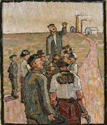 Strike, Grace Cossington Smith, 1917