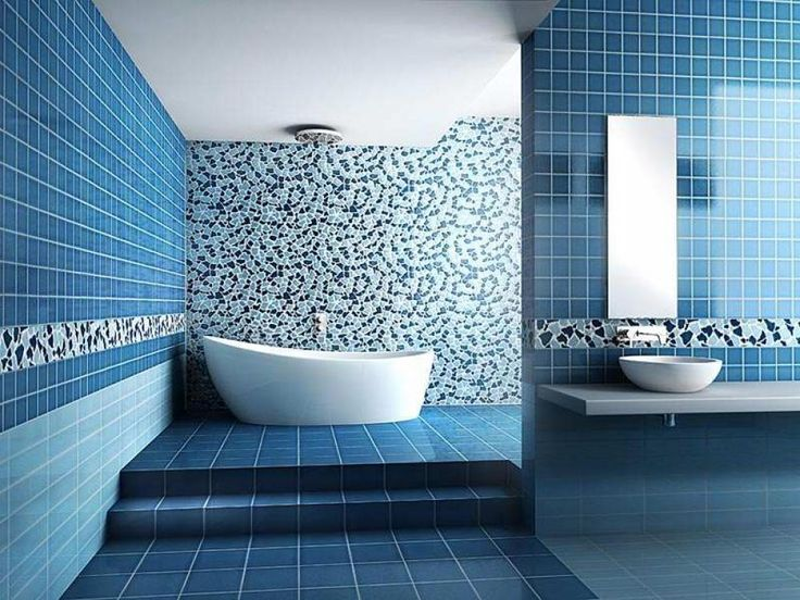 Blue Bathroom Tile Design Ideas Part 45