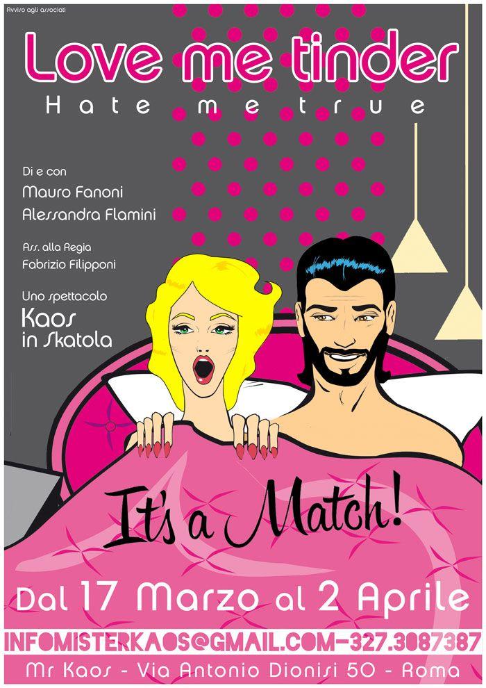★ #LoveMeTinder #HateMeTrue al #MrKaos di #Roma dal 17 marzo al 2 aprile (solo ven.,sab. e dom.) di e con #MauroFanoni e #AlessandraFlamini ★ #SpettacoloCheSpettacolo ➡ ➡ ➡ http://www.spettacolochespettacolo.com/spettacoli-a-roma/2124-love-me-tinder-hate-me-true