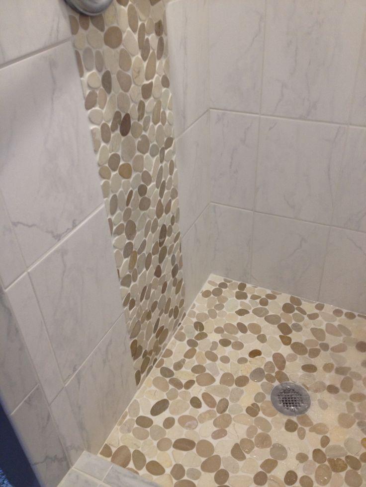 Bathroom Tile Ideas For Shower Floors 542 best bathroom pebble tile and stone tile ideas images on