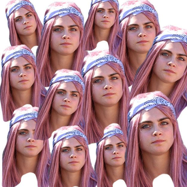 Cara Delevingne's New Pink Hair Was A Wig