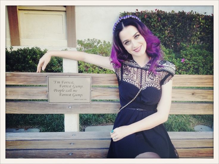"""Katy Perry posted this picture of herself along with the tweet: """"Life is like a box of chocolates, eat them all,"""" in reference to the film Forrest Gump."""