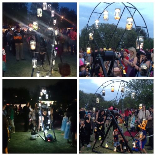 Spooky Solar Scenes with the Consol Solar Jar at Halloween