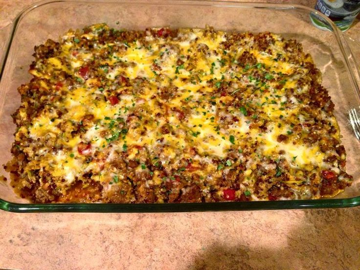QUINOA TACO BAKE!!!  *21 Day Fix Approved   This is a clean eating meal that the entire family will love! Its delicious, low in calories, ea...