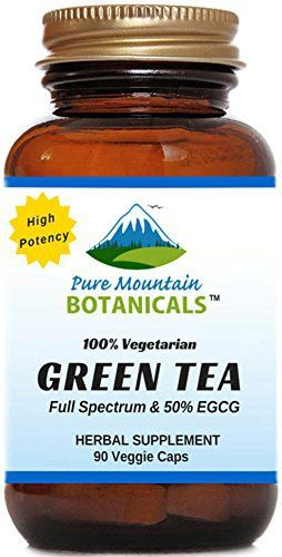 High Potency Green Tea Pills. 90 Kosher Veggie Capsules With Organic Full Spectrum and Pure Green Tea Extract About Pure Mountain Botanicals®  We believe there's a better way to help you be your best. A better way that works naturally with your body. Since the beginning, we have been ... more details at http://supplements.occupationalhealthandsafetyprofessionals.com/herbal-supplements/green-tea/product-review-for-high-potency-green-tea-pills-90-kosher-veggie-capsules-no