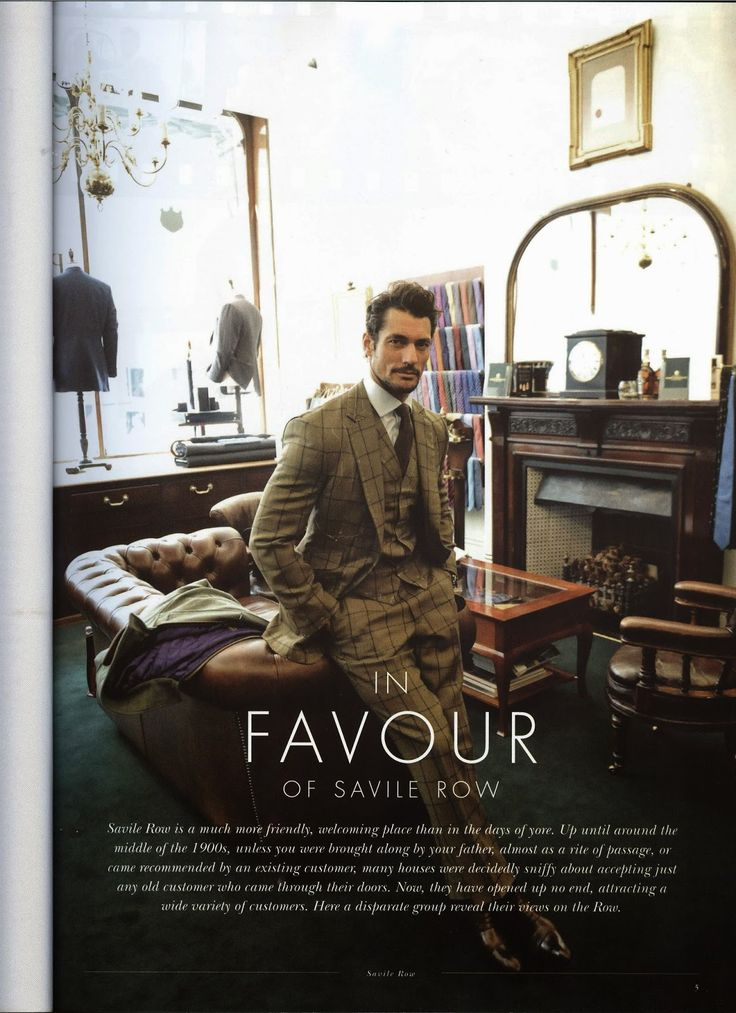 David Gandy covers Saville Row Style Magazine (July 2014) ~ David James Gandy