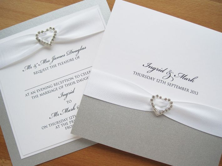 White And Silver Weding Invitations 07 - White And Silver Weding Invitations
