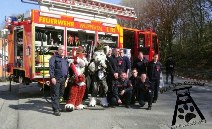 Nero und Rotanes mit der Feuerwehr Wuppertal