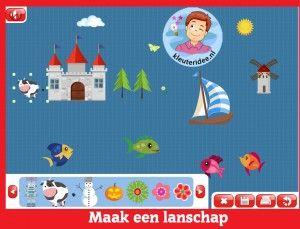 Vytvoriť krajinu, deti v predškolskom veku na interaktívnu tabuľu alebo počítačovej kleuteridee.nl