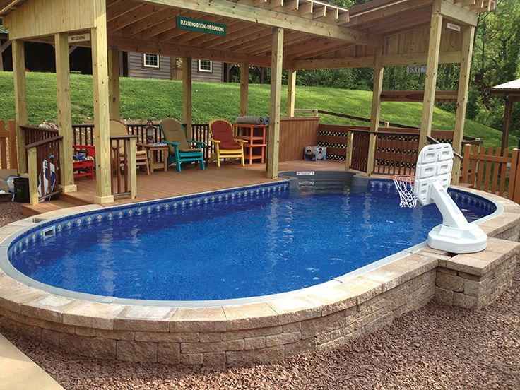 Above Ground Pool On A Sloped Backyard :  Backyards, Backyards Ideas, Dreams Pools, Pools Ideas, Inground Pools