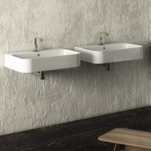 The Slim range of basins from Italian company Disegno Ceramica feature a fine rim and is available in several sizes and installation options
