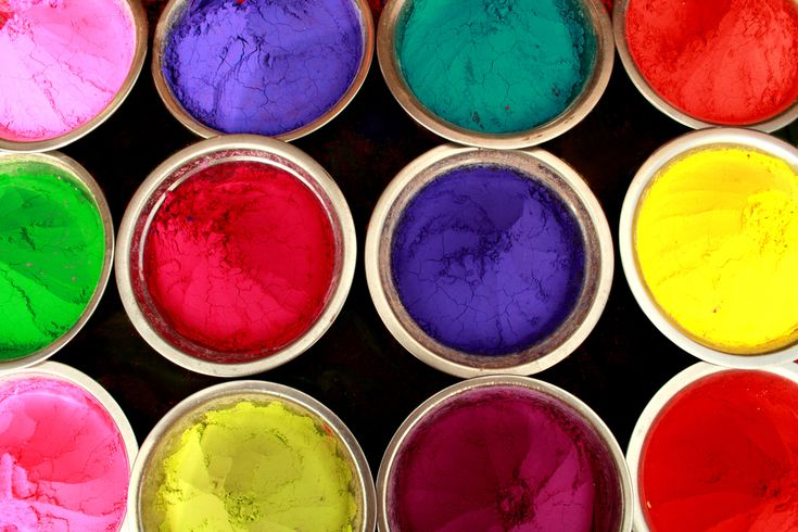 how to make color run powder