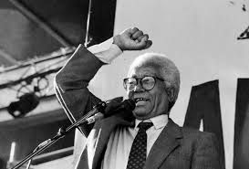 Walter Sisulu 1912 - 2003  South African anti-apartheid activist and member of the African National Congress (ANC), serving at times as Secretary-General and Deputy President of the organisation. He was jailed at Robben Island, where he served more than 25 years' imprisonment.