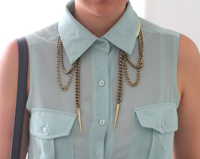 sweet hardware.: Woman Fashion, Spikes, Fashion Style, Than, Chains, Collars, Necklaces, Accessories, Jewelry Ideas