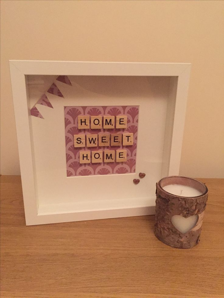 Home sweet home - new home gift - handmade scrabble frame https://m.facebook.com/craftinesswithlove/