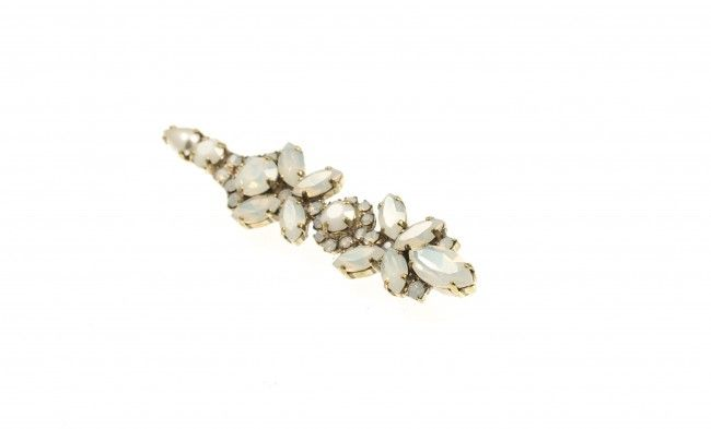 Hairpin with Swarovski strasses and crystals, by Art Wear Dimitriadis -Handmade-