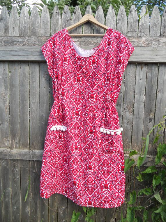 Hey, I found this really awesome Etsy listing at https://www.etsy.com/ca/listing/265458339/prairie-dress-red-and-white-skull-goth