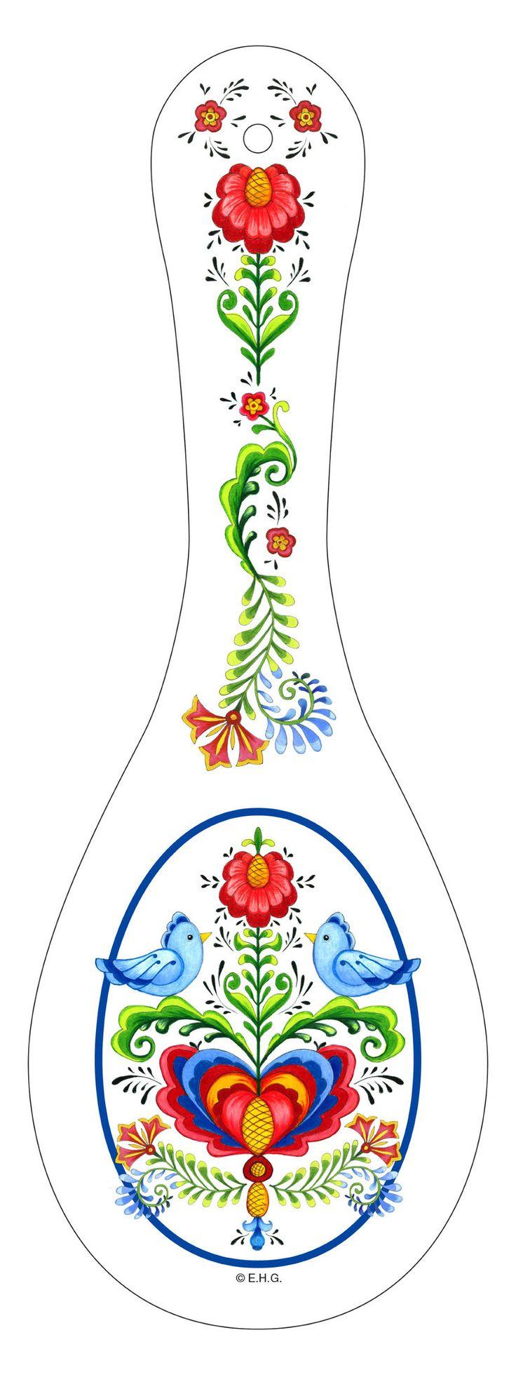 Ceramic Spoon Rest: Lovebirds
