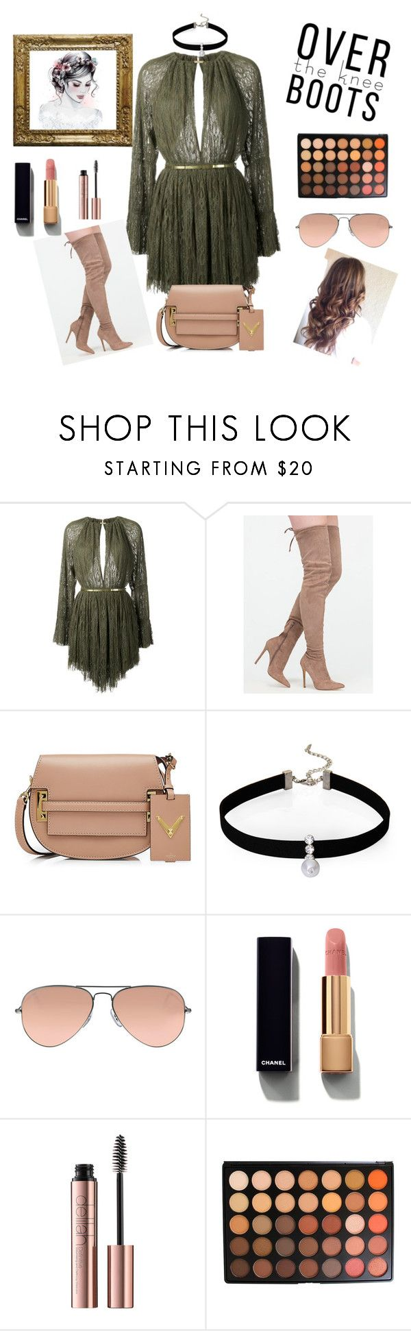 """""""daily look"""" by lemar1308 on Polyvore featuring Jay Ahr, Valentino, Loren Olivia, Ray-Ban, Chanel et Morphe"""