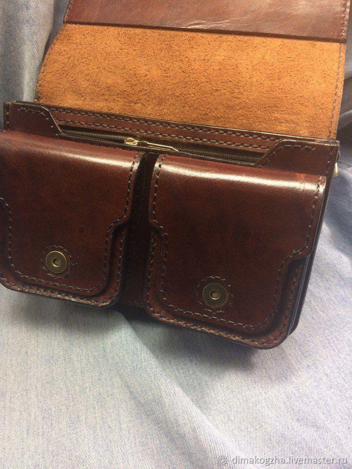 19a00f8c7491 Мужские сумки ручной работы. сумка мужская из натуральной кожи на плечо.  Dima. Интернет