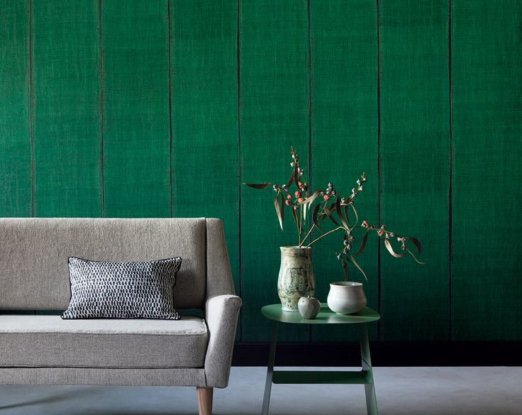 "New wallpaper collection ""Nomades"". Strip effect of handcrafted weaving of silk and linen. Vinyl wallpaper on an unwoven backing. www.elitis.fr/... #wallpaper, #woodeffect, #elitis, #wall, #stripes"