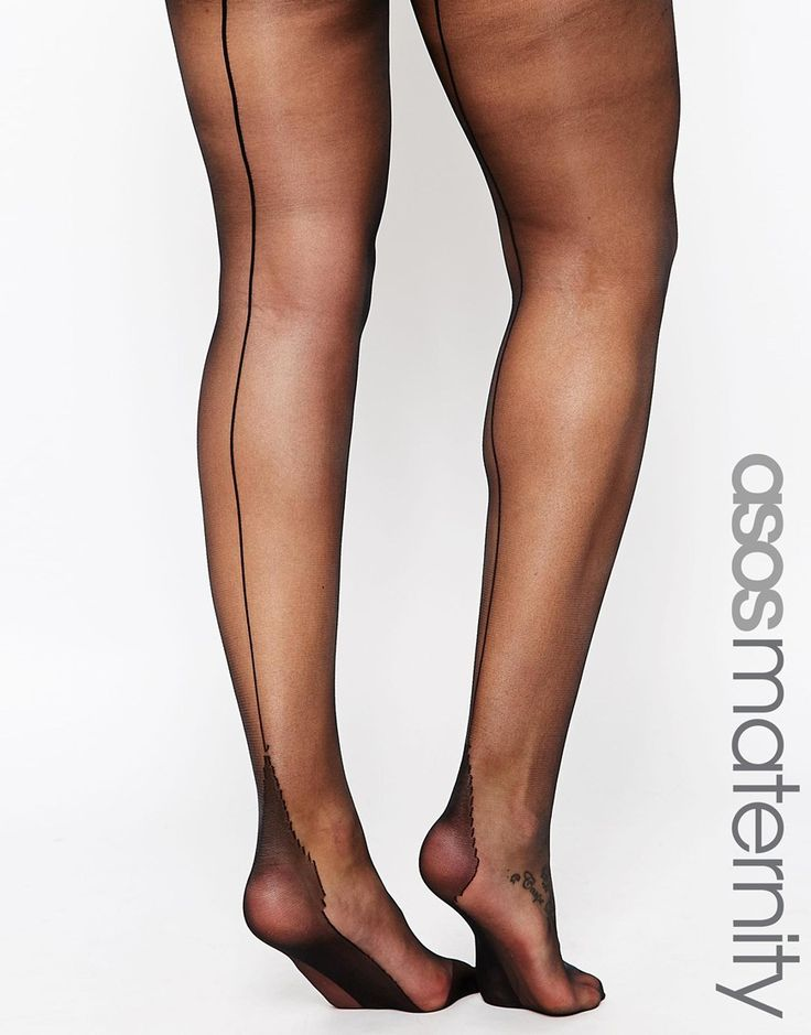 ASOS Maternity Tights With Back Seam Detail and Supportive Band