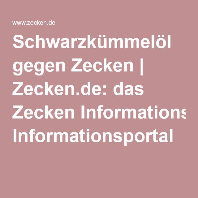 Schwarzkümmelöl gegen Zecken | Zecken.de: das Zecken Informationsportal