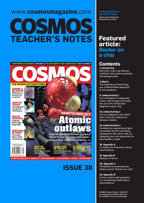Teachers Notes INT : Issue 38, Doctor on a chip