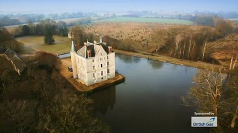 Channel 4's Escape to the Chateau follow the footsteps as Dick and Angel turn a shabby French castle into a family home. Dick Strawbridge and Angel Adoree seen hard at work restoring the house at Chateau-de-la-Motte Husson in Pays de la Loire, France