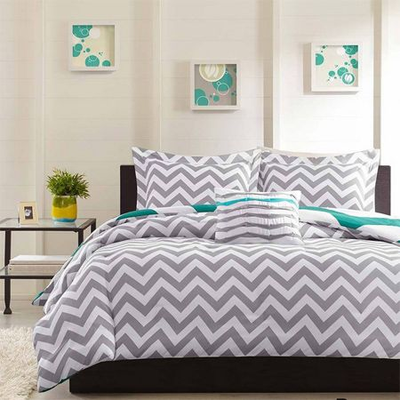 25 Best Ideas About Grey Chevron Bedrooms On Pinterest