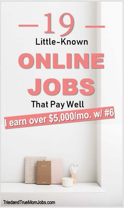 19 Best Little-Known Online Jobs from Home that Pay Well in 2019 – Make Money Online