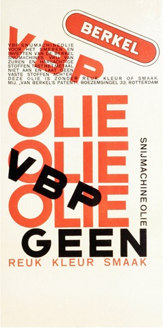 By Paul Schuitema, ca 1 9 2 8, Label for P. van Berkel Ltd. Rotterdam.