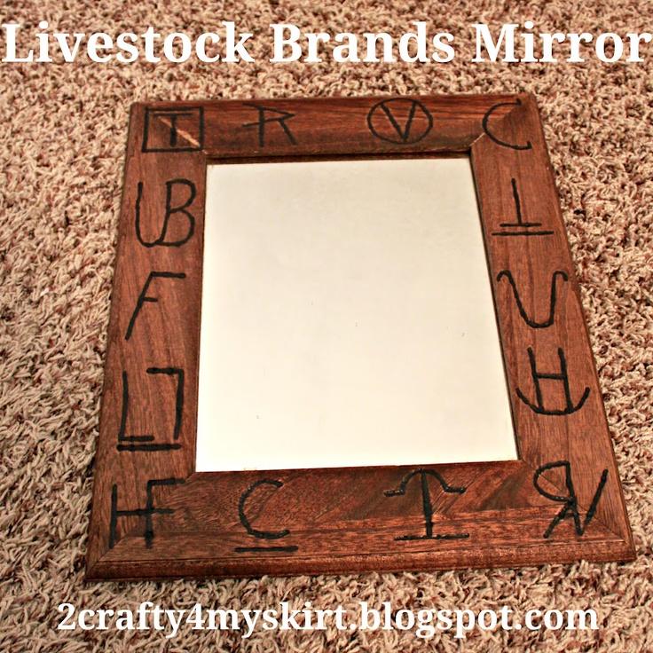 2 Crafty 4 My Skirt: Livestock Brands Mirror