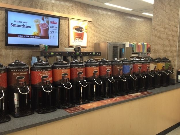 Every store has exactly 9,000 different brews of coffee. | 22 Reasons Why Wawa Is The Greatest Gas Station On The Planet