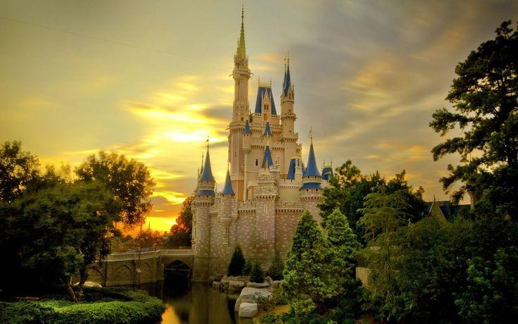 Замок Золушки, Диснейленд, Анахайм, Калифорния, Cinderella Castle, Disneyland…