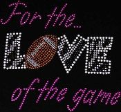Football Iron on Rhinestone Transfer - touch down - hot fix bling motif - DIY appliqué - free heat pressing  on Etsy, $8.99