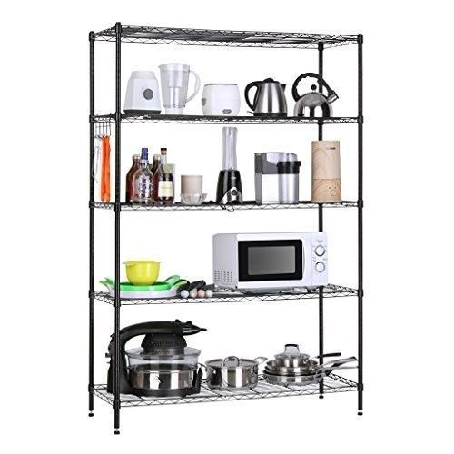 Garage Metal Shelving Storage Shelves Metal Heavy Duty Rack Organizer 5 Tier New #GarageMetalShelvingStorageShelves