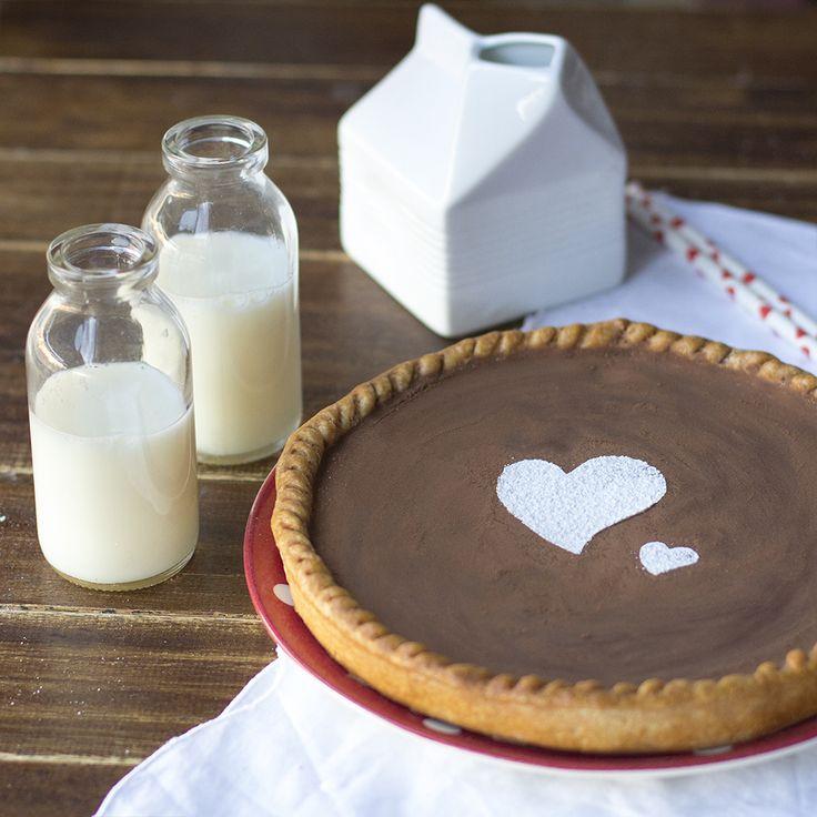 Tarta de chocolate para San Valentín con Thermomix