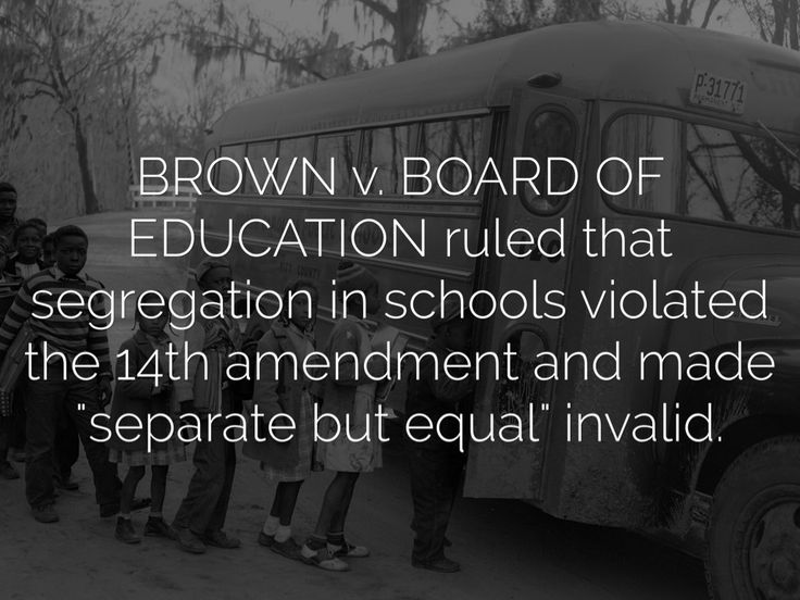 the best the th amendment ideas amendment board of education ruled that segregation in schools violated the 14th amendment and made separate