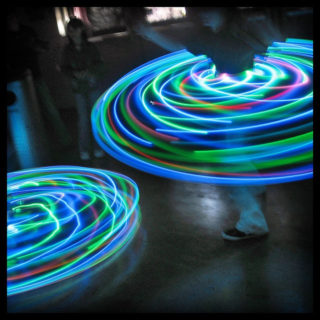 LED Hula Hoops! How fun for a Bar/Bat Mitzvah!